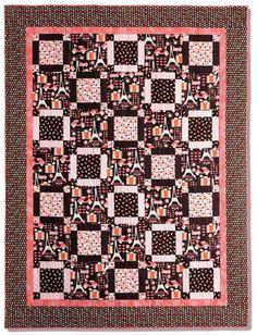 Summer in Paris quilt by Jean Nolte.  Get the free pattern: www.freequiltpatterns.info/quilt-pattern-designer---jean-nolte---summer-in-paris.htm