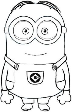 How to Draw Dave ... one of the Minions from Despicable Me Drawing Tutorial