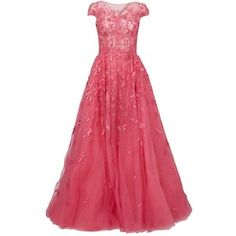 Zuhair Murad Sequin Embellished Flared Gown