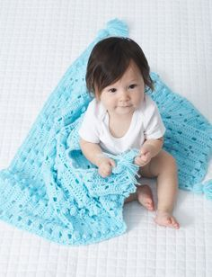 Yarnspirations.com - Bernat Textured Grid crochet Baby Blanket - Patterns | Yarnspirations