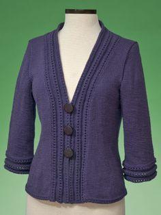 Top-Down Cardigan Knit Pattern
