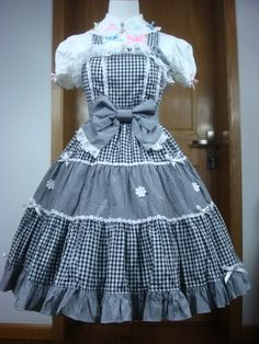 Image detail for -Black Gingham AP Lolita JSK $92.99-One Piece Dress - Dresses & JSKs ...