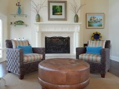 Two Balta chairs with a Leather Nassau ottoman By: Andrea Ciano Aciano@pineville.ethanallen.com Photo Credit: Andrea Ciano