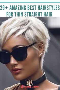 29+ Amazing Best Hairstyles for Thin Straight Hair #Straighthair #short #hair #trends #Hair2020 #wigsos #Hairstyles