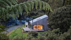 Native bush surrounds the property, making it a true bush hideaway.