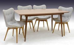 Comely Metal wood dining chairs