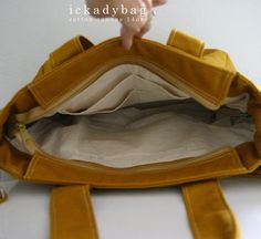 Christmas SALE  Mustard Diaper bag / Canvas bag / by ickadybag, $45.00