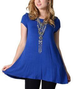 This Royal Blue Sidetail Tunic - Plus is perfect! #zulilyfinds