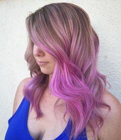 A touch of pink  #btconeshot_color16 #btconeshot_rainbow16 #btconeshot_ombre16 #behindthechair #haircolor #pinkhair #mauve #pinkombre #vividhair #modernsalon #hotonbeauty Modern Salon @behindthechair_com @behindthechair_stylist @hotonbeauty #haircurls #instahair #hairgrowth #transformationtuesday @brazilianblowout @brazilianbondbuilder #b3pops #pulpriothair @pulpriothair