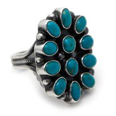 Sterling Silver Kingman Cluster Ring at Maverick Western Wear
