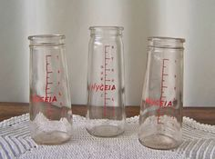 Vintage Hygeia Baby Bottles 8 Ounce Glass Bottles Nursery Decor Babies Room Baby…