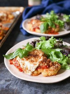 Parm for the veggie lovers! (p.s. Cauliflower steaks are so hot right now.)