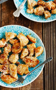 Sticky Chicken Bites by @AlexisKornblum