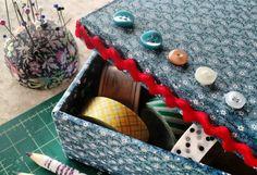 Caixa forrada com tecido: como fazer
