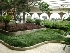 Garden..palacio de Itamaraty, Brasil. Arquitecto: Oscar Niemeyer