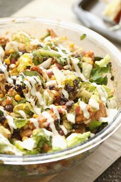Barbecue Chicken Salad | Six Sisters' Stuff