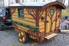 camper converted into gypsy wagon | The Most Colorful Gypsy Caravans
