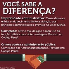 Improbidade administrativa, corrupção, crimes contra a administração pública