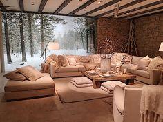 Great sofa/seating set up-Ralph Lauren Modern Chalet