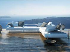 Sofá modular para jardín SABAL by Coro | diseño Matteo Nunziati