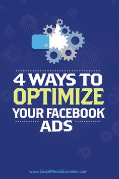 Do you want to spend less time creating Facebook ads?  When you've created a Facebook ad that converts, there are a number of ways to maximize your success.  In this article you'll discover four ways you can build on the success of Facebook ads that are already performing well. Via @smexaminer.