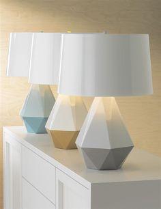 Brand new! Robert Abbey Geometric Table Lamps at Lamps Plus | #tablelamps #geometrics #deltaduo