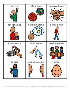 Emotion Choice Cards - Emotional Regulation / Coping Skills by Lauren Erickson Calming Activities, Sensory Activities, Therapy Activities, Sensory Diet, Social Emotional Learning, Social Skills, Children With Autism, Autistic Children, Kids Coping Skills