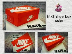 How to make NIKE shoe box cake /เค้ก กล่องรองเท้า NIKE ใครว่าทำยาก