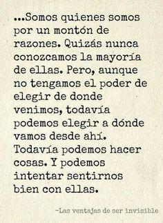 Las Ventajas de ser Invisible ^^