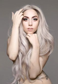 Lady Gaga lookin' gorgeous with gray hair. #beauty #gorgeous #makeup #hair