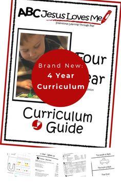 Have you heard?  The ABCJesusLovesMe 4 Year Curriculum has been completely remodeled!  See all of the wonderful changes here.    #prepareforkindergarten #ABCJesusLovesMe #preschoollearning #howtoteachpreschoolers