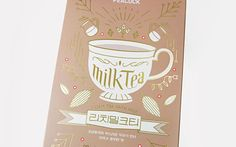 PEACOCK RICH MILK TEA Packaging on Behance
