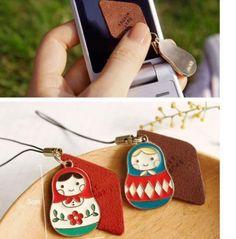1-x-Russian-Doll-Matryoshka-Mobile-Phone-Accessory-Charm-Iphone-Screen-Cloth