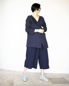 a navy outfit simple chic, making and styling, sew chic handmade