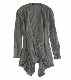 AE Solid Open Cardigan