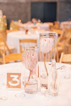 Modern Chic Marfa, Texas Wedding - Style Me Pretty Protea Wedding, Floral Wedding, Diy Wedding, Elegant Wedding, Wedding Ideas, Wedding Details, Wedding Colors, Wedding Ceremony, Wedding Stuff