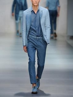 @Ermanno Scervino total demin SS2014 man collection #awesome #loveit