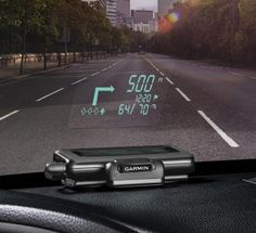 Garmin HUD projects smartphone app directions onto your windshield. I so need this!