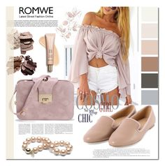 """""""Untitled #153"""" by mila96h ❤ liked on Polyvore featuring Pink, shoes, romwe, bag and blouse"""