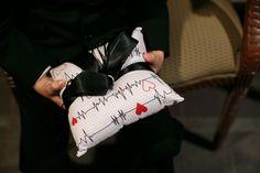 Ring-bearer pillow, medical-theme