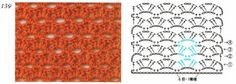 Esquemas puntos de fantasia en crochet Parte I ~ Dos Agujas y Crochet