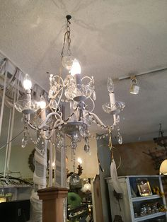 Bronze 5 bulb chandelier chateaucountrylace shabbychic vintage white 5 bulb chandelier chateaucountrylace vintage shabbychic shopifypicks aloadofball Choice Image