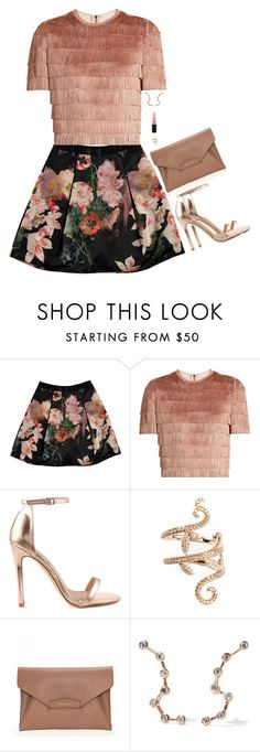 """""""Untitled #5692"""" by miki006 ❤ liked on Polyvore featuring Ted Baker, Raey, Liliana, Elise Dray, Givenchy, Aamaya by Priyanka and MAC Cosmetics"""