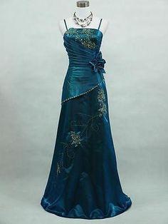 Cherlone Satin Sparkle Long Lace Ball Bridesmaid Wedding/Evening Gown Dress
