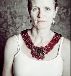 Flux 9 by katja toporski. Necklace made from red wine and gelatin