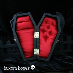 Gothic Wedding Coffin Jewelry Box  Until Death  di BuxomBones, $29.00