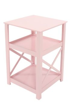 Clean and classic, this pink pedestal will give your little one some handy storage and decor x x Fabric Content:MDF