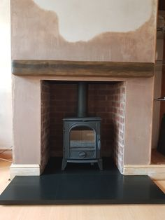 Capital Package 3 Includes:- choice of dark/light beam, 7 styles of Brick chamber, Granite slabbed Hearth, choice of 3 stoves Pellet Fireplace, Wood Burner Fireplace, Home Fireplace, Living Room With Fireplace, Living Room Decor, Log Burner Living Room, Stone Wall Design, Multi Fuel Stove, Brick Paneling