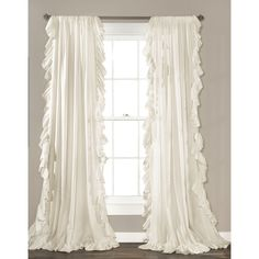 Shop Joss & Main for your Ruffle Rod Pocket Curtain Panel. Frame a window in your master suite or living room with this lovely curtain, perfect paired with metallic furniture and animal prints for a bold glam look.