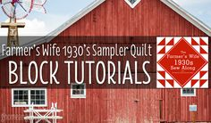 The sew-along starts 28 September 2015 and the first block tutorial will be published 29 September 2015. For more information click here. The following is a list of all the blocks in The Farmer's Wife 1930's Sampler Quilt book and links to their tutorials. This list will be updated with links and images are the...Read More »